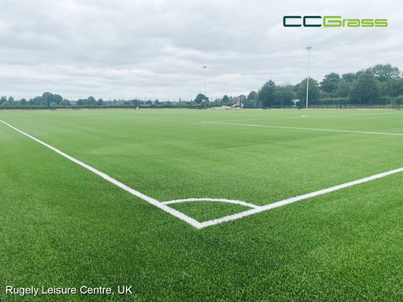 CCGrass, football field, Rugely Leisure Centre